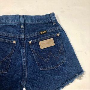 Vintage Style Wrangler Cutoff Jean Shorts